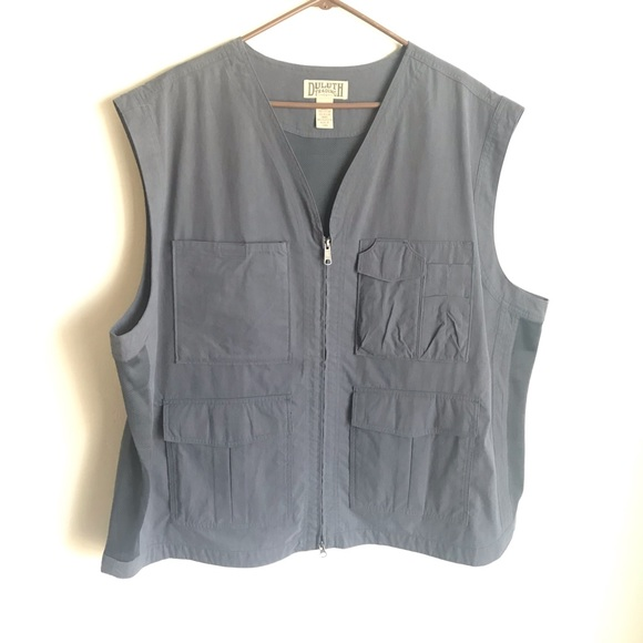 Duluth Trading Co Other - Duluth Trading Co Blue Gray Fishing Vest Size 3XL
